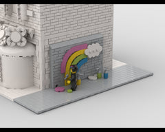 MOC - Modular Corner Graffiti | Turn every modular model into a corner
