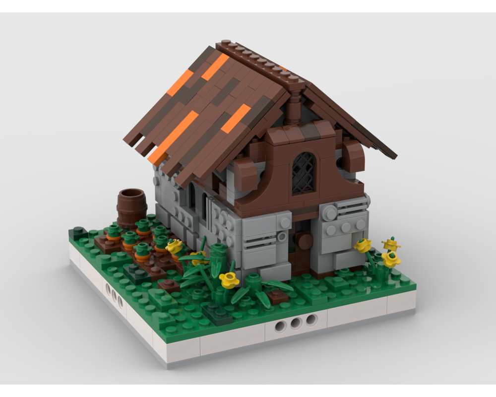 MOC - Farm House for a Modular Village #2