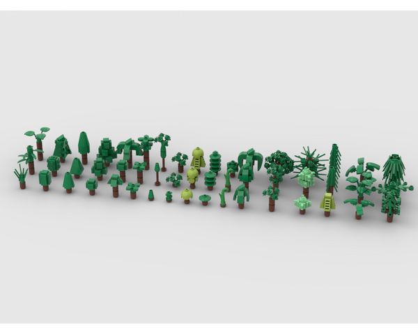 MOC - 51 design for a mini scale tree - How to build it