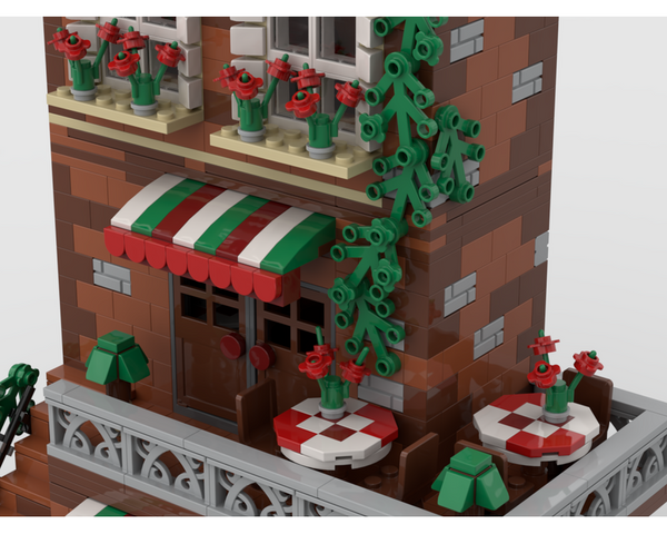 MOC - Italian Restaurant | Modular Building - How to build it