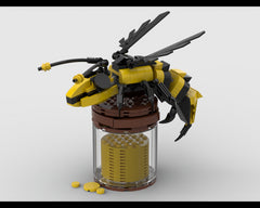 MOC - Bee on a jar of honey