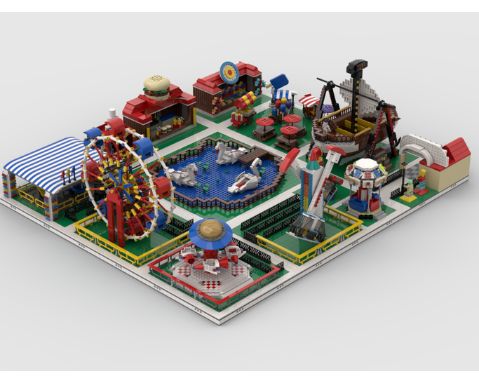 MOC - Modular Amusement Park Build from 13 models