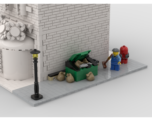 MOC - Modular Corner Garbage Man | Turn every modular model into a corner - How to build it