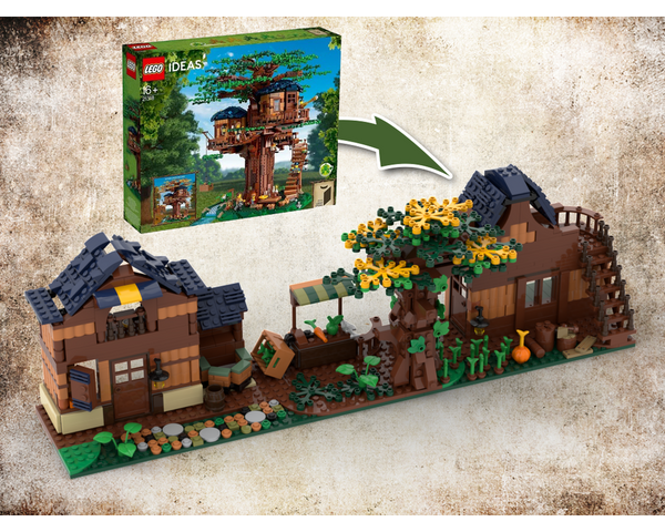 MOC - 21318 Medieval Street Alternative Build - How to build it