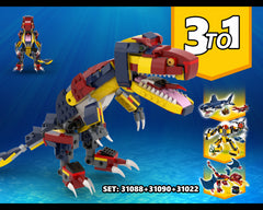 MOC - 3 TO 1 Dinosaur Alternative Build | Build from set 31090 + 31088 + 31102