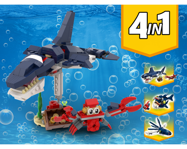 MOC - 31088 Orca Whale Alternative Build - How to build it