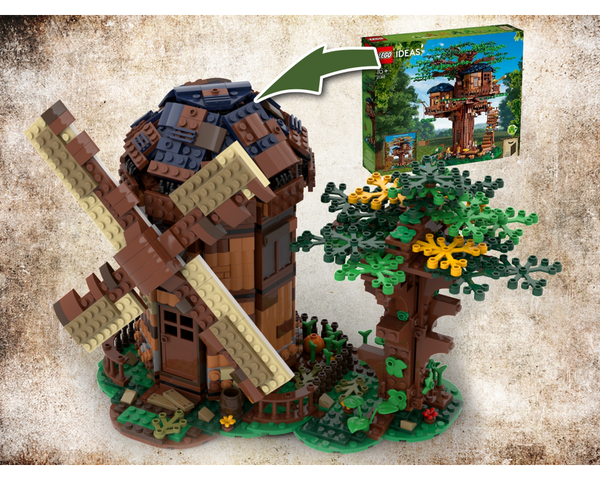 MOC - 21318 windmill Alternative Build