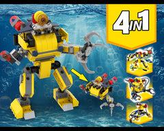 MOC - 31090 submarine robot Alternative Build