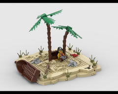 MOC - A lonely island - Pirate