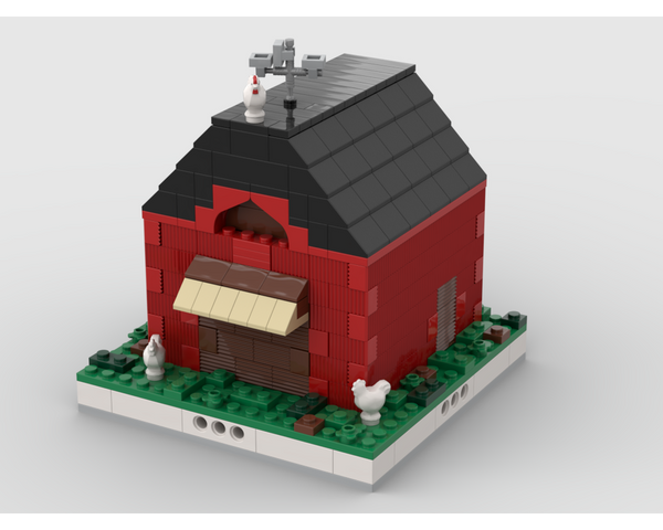 MOC - Barn for a Modular Village - How to build it
