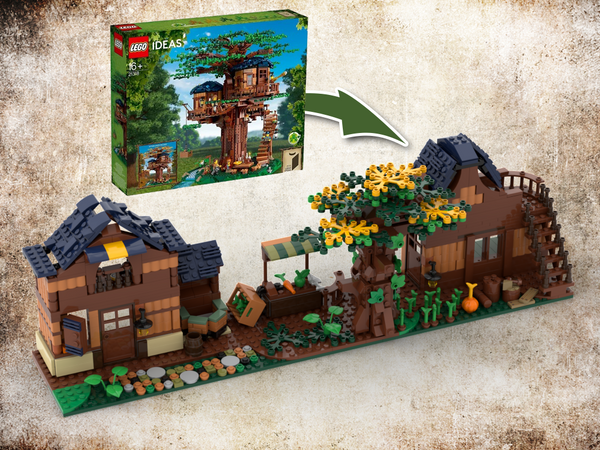 MOC - 3 IN 1 Alternative Build for Tree House set 21318 (3 MOCs) - How to build it