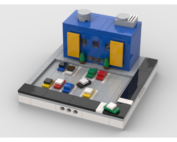 MOC - Center with car park for a Modular City - How to build it