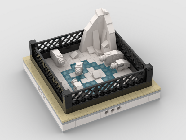MOC - Polar Bear | mini modular ZOO - How to build it