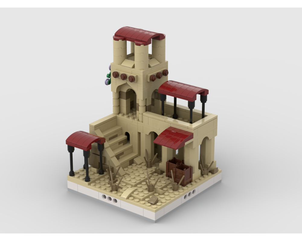 MOC - Desert House #1 for a Modular Desert village