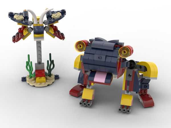 MOC - 3 TO 1 Frog and moth Alternative Build | Build from set 31090 + 31088 + 31102