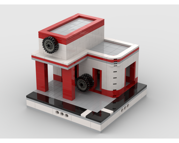 MOC - Garage for a Modular City - How to build it