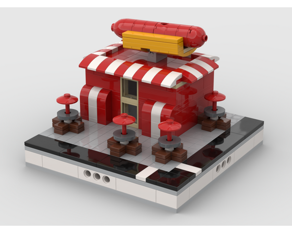 MOC - Hot dog stand for a Modular City - How to build it
