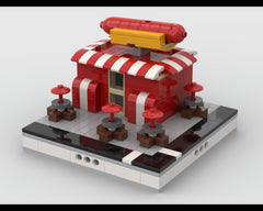 MOC - Hot dog stand for a Modular City