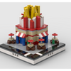 MOC - Lego French Fries Stand for a Modular City - How to build it