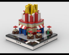 MOC - Lego French Fries Stand for a Modular City