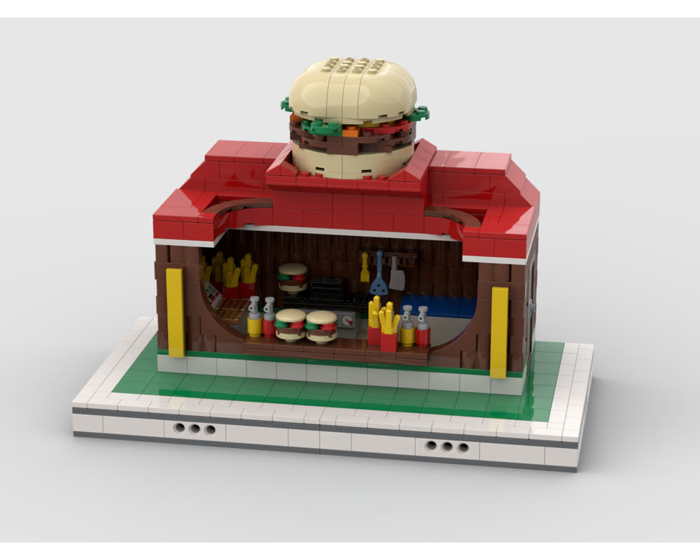 MOC - Burger Stand for modular Amusement Park