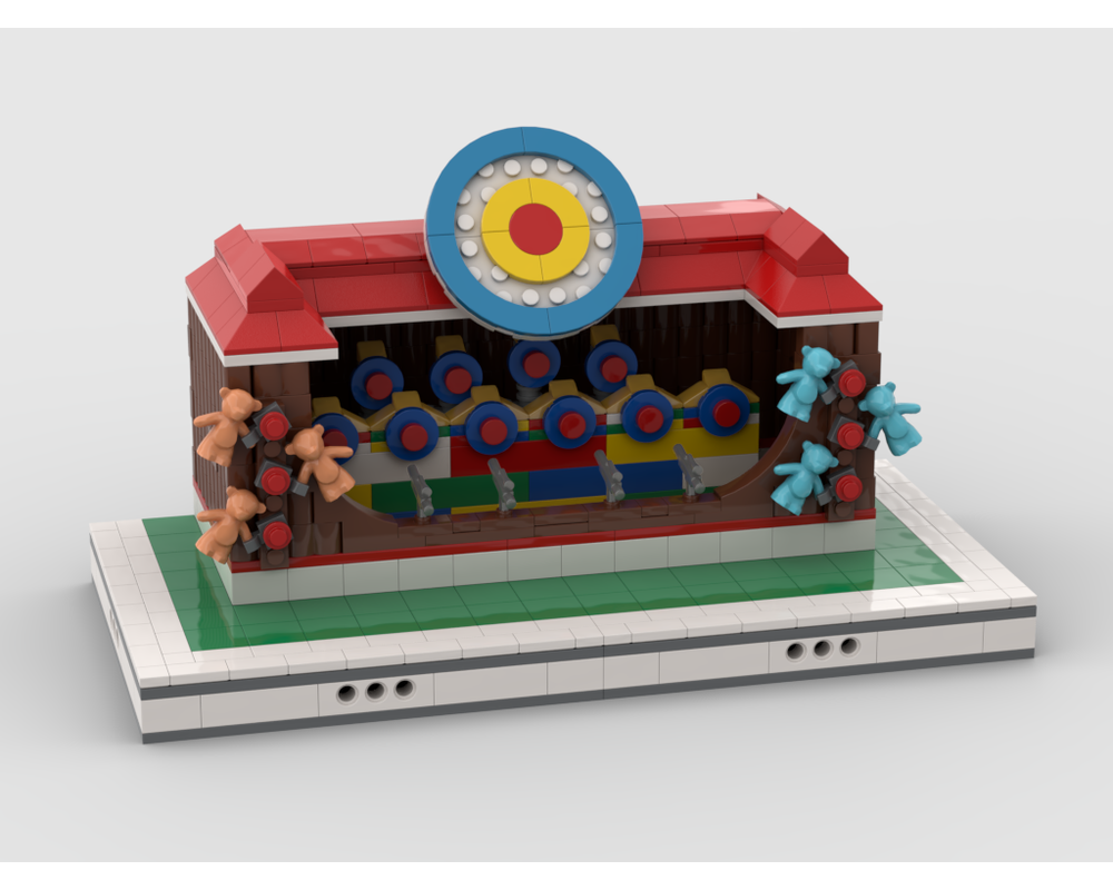 MOC - Dartboard Stand for modular Amusement Park