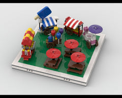 MOC - Dining area and food stands for modular Amusement Park