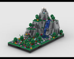 MOC - Diorama of Mountains and Valley