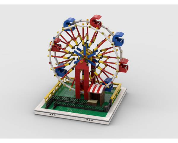 MOC - Ferris Wheel for modular Amusement Park - How to build it