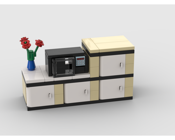 MOC - Microwave with kitchen cabinets