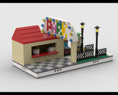 MOC - Park Gate with Ticket booth for modular Amusement Park