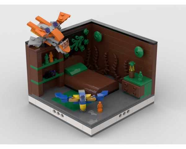 MOC - Super Heroes Room Design #12 - How to build it