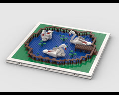 MOC - Swan Boats for modular Amusement Park