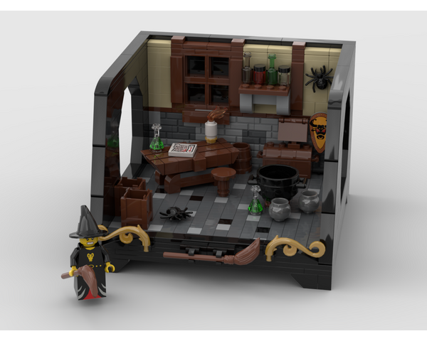 MOC - Witch Room Design with a special stand - How to build it