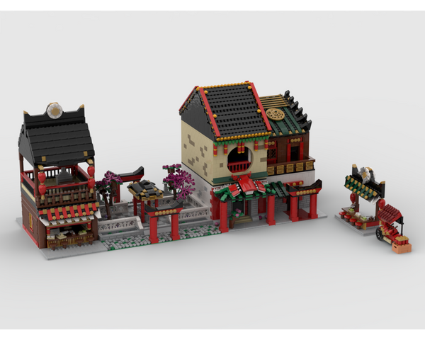 MOC - Modular China Town Street  build from 6 MOCs