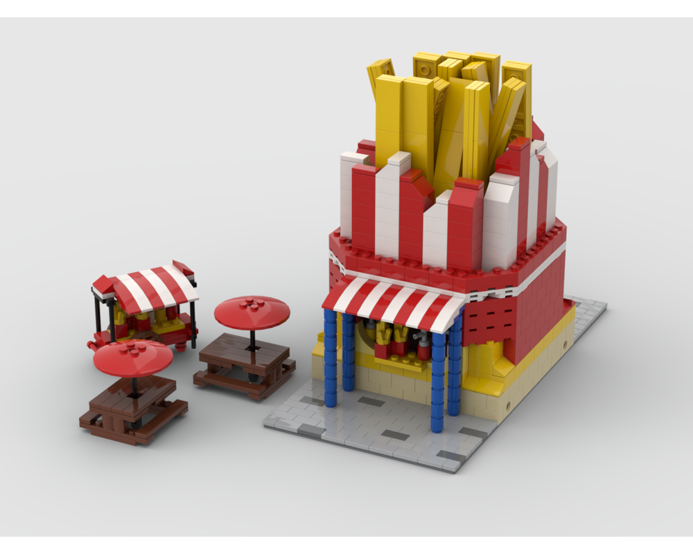 MOC - Modular French Fries Stand