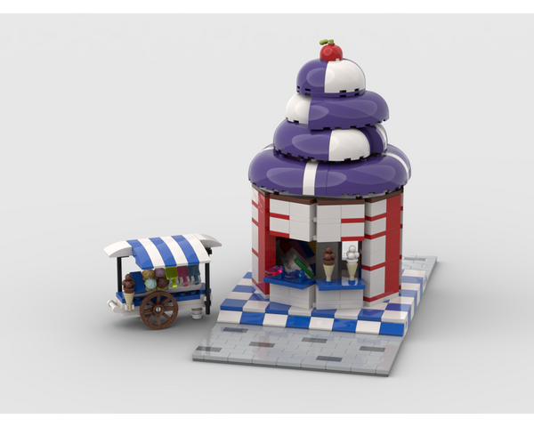 MOC - Modular Ice Cream Store - How to build it