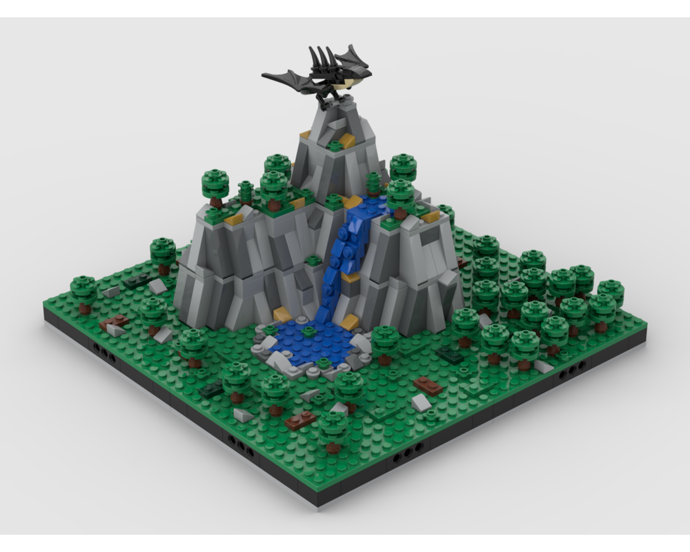 MOC - The Dragon Gold Mountain