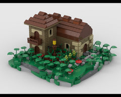 MOC - Village House diorama