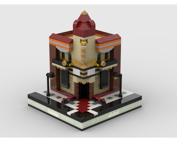 MOC - Mini Old Cinema for a Modular City - How to build it