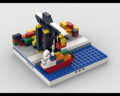 MOC - Mini Port for a Modular City
