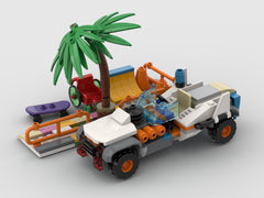 MOC - Muscle car Alternative Build set 60290
