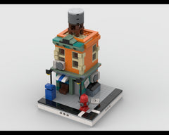 MOC - Neighborhood building with shop for Modular City