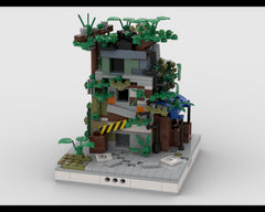 MOC - Ruined House #1 for a Modular Ruined City