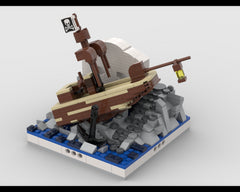 MOC - Shipwreck on Skull Island