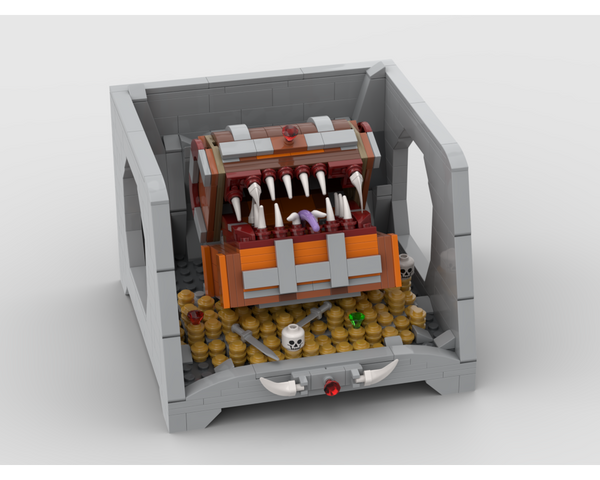 MOC - Treasure Cave - A Mimic Monster - How to build it