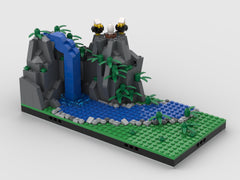 MOC - Waterfall | Modular Fairy Tale world