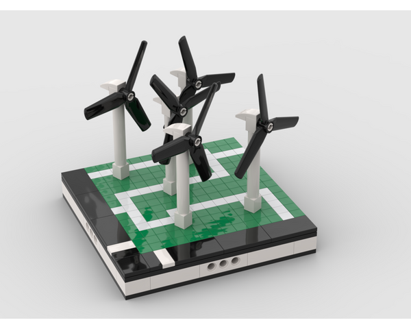 MOC - Wind turbine farm for a Modular City - How to build it