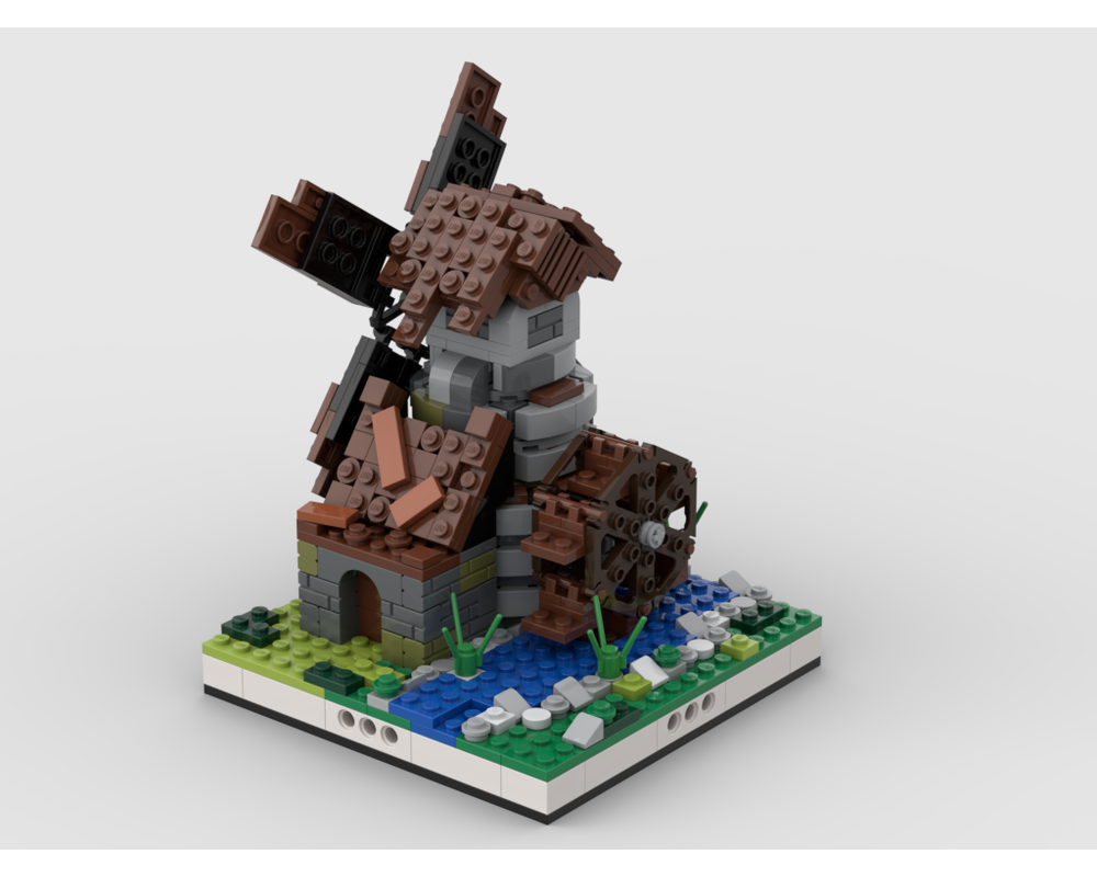 MOC - Windmill for a Modular Village