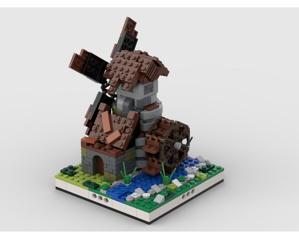 MOC - Windmill for a Modular Village - How to build it